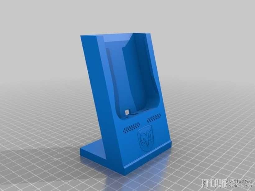 Dodge道奇手机充电座 3D模型  图2