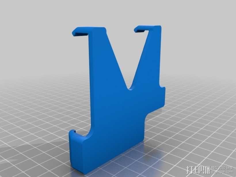 车载式手机座 3D模型  图2