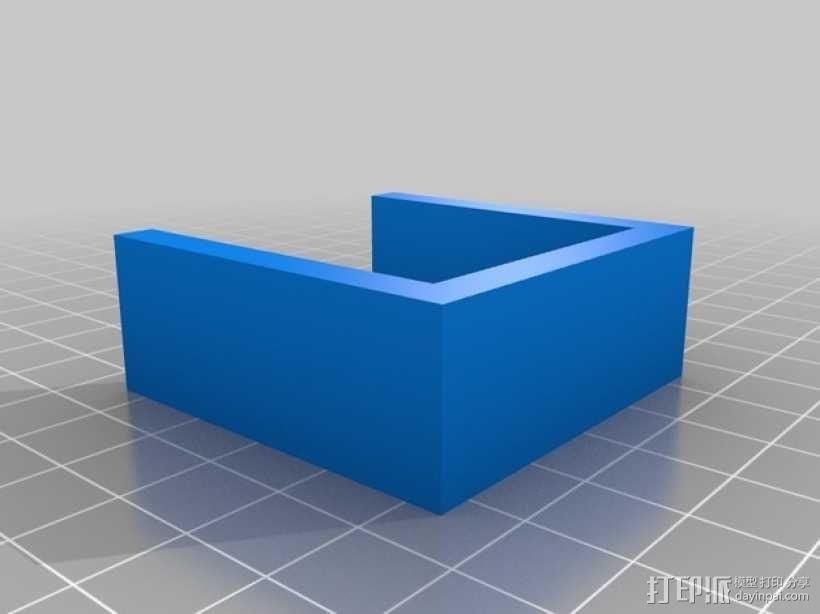 XBOX 360游戏机手柄桌面支架 3D模型  图3