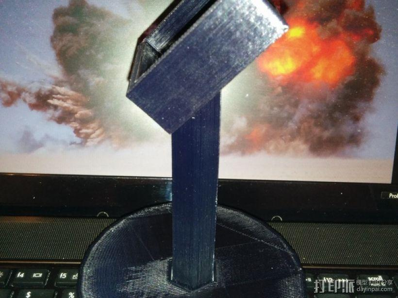 XBOX 360游戏机手柄桌面支架 3D模型  图5