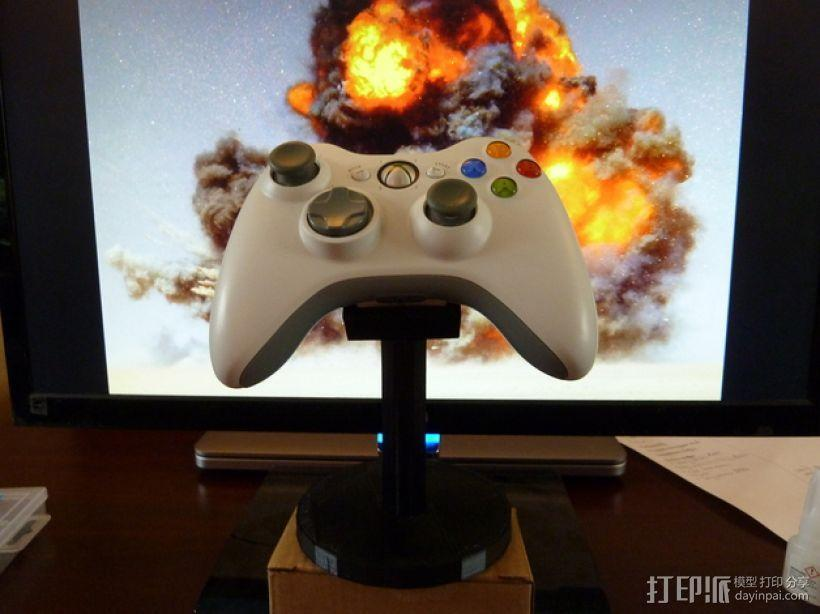 XBOX 360游戏机手柄桌面支架 3D模型  图8