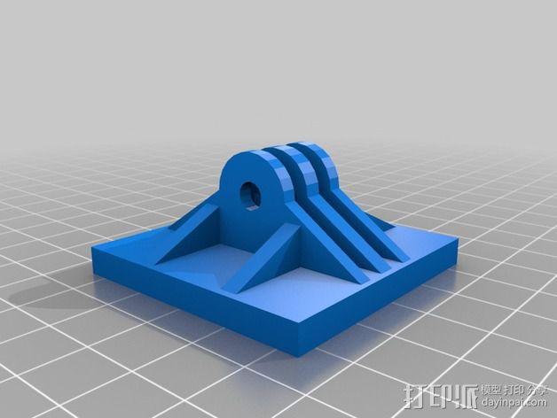摄像机安装座 3D模型  图3