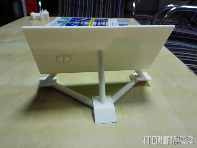 华为Ascend P7手机支架 3D模型  图3
