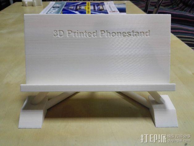 华为Ascend P7手机支架 3D模型  图2