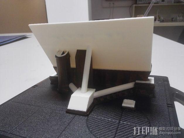华为Ascend P7手机支架 3D模型  图5