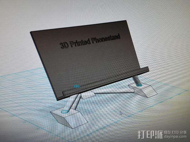 华为Ascend P7手机支架 3D模型  图6