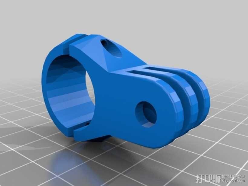 GoPro相机底座 连接器  3D模型  图1