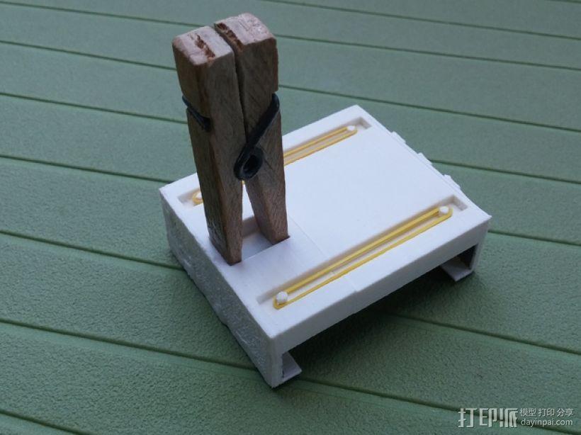 通用式手机支架 3D模型  图3