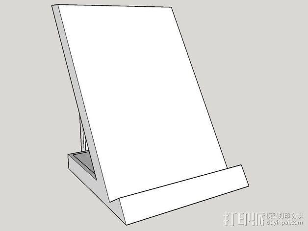 三星Galaxy S5 Qi 平板电脑充电座 3D模型  图3