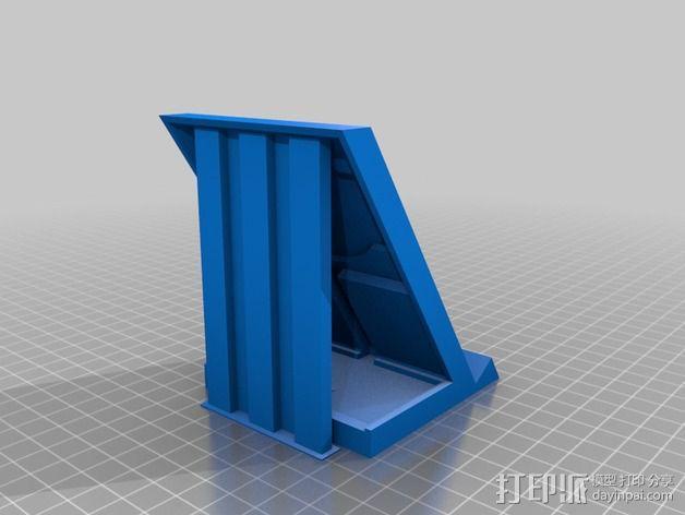 三星Galaxy S5 Qi 平板电脑充电座 3D模型  图4