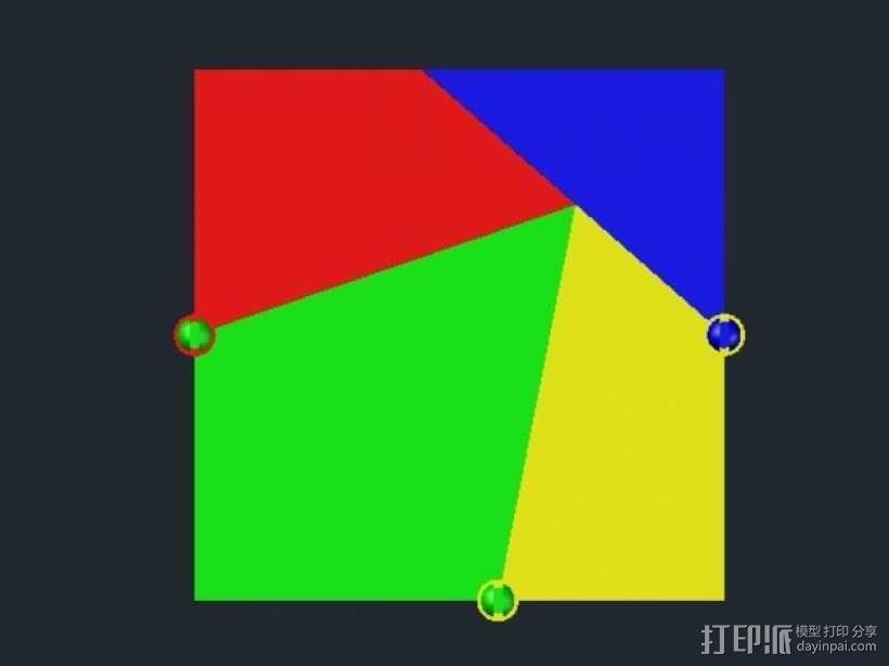 三角板 七巧板 3D模型  图1