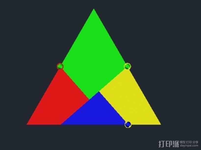 三角板 七巧板 3D模型  图6
