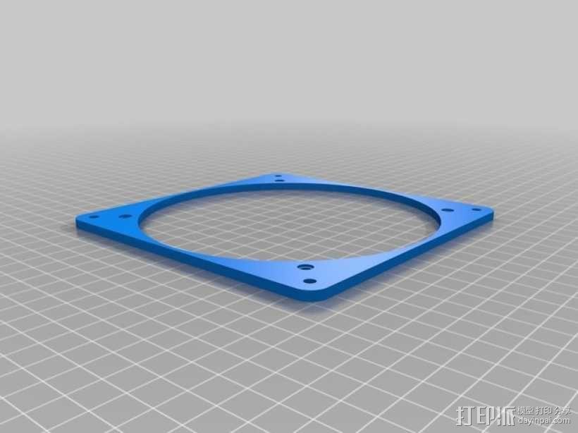 风扇适配器 3D模型  图1