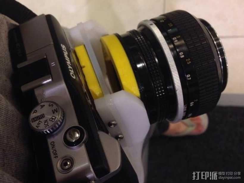 相机镜头适配器 3D模型  图1