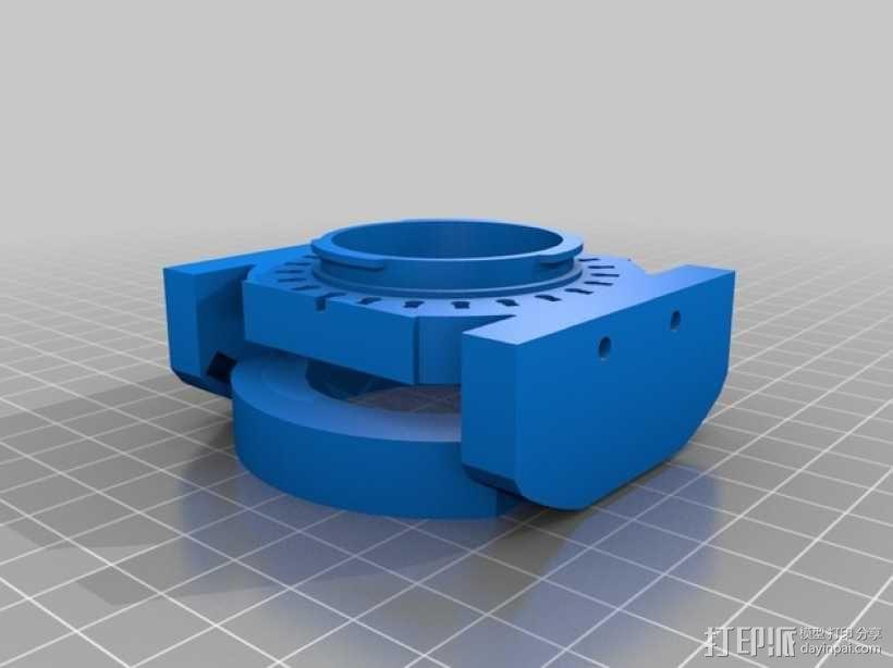 相机镜头适配器 3D模型  图2