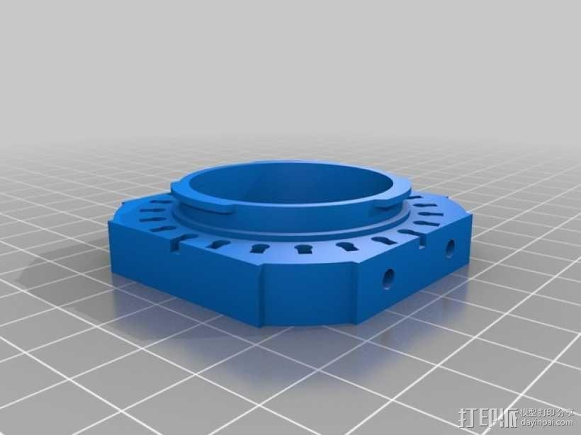 相机镜头适配器 3D模型  图4