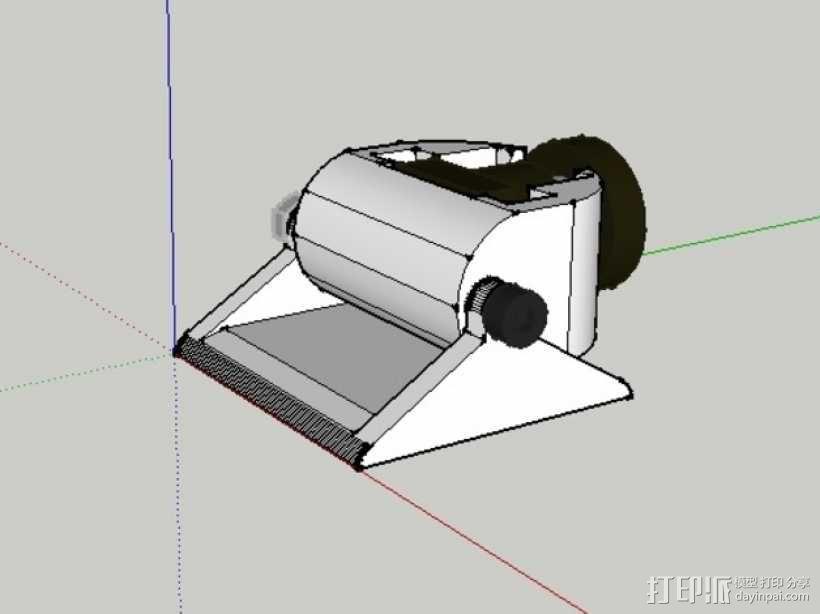 Mobius 相机广角透镜架 3D模型  图1