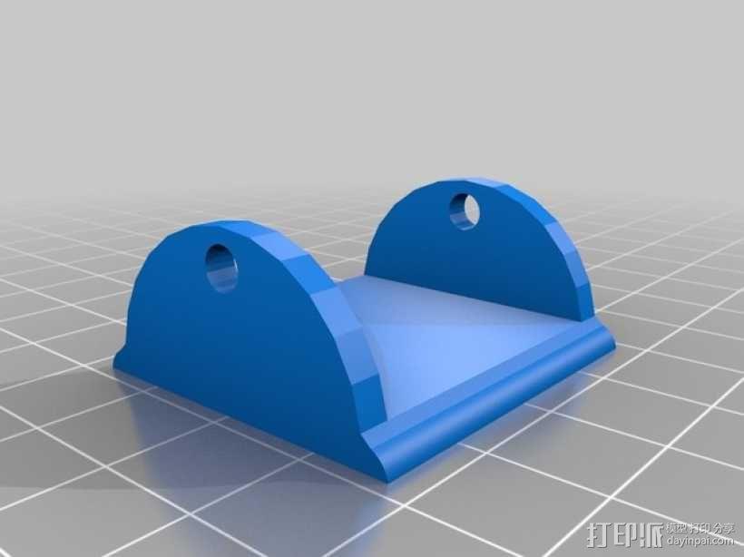 Mobius 相机广角透镜架 3D模型  图2