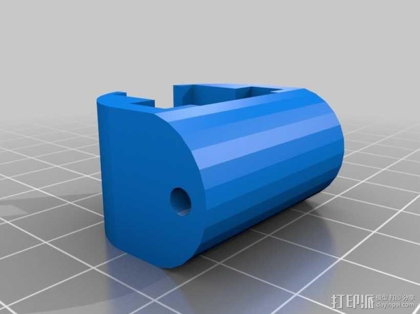 Mobius 相机广角透镜架 3D模型  图4
