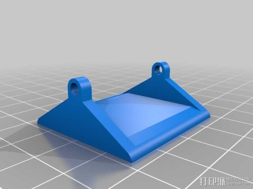 Mobius 相机广角透镜架 3D模型  图3