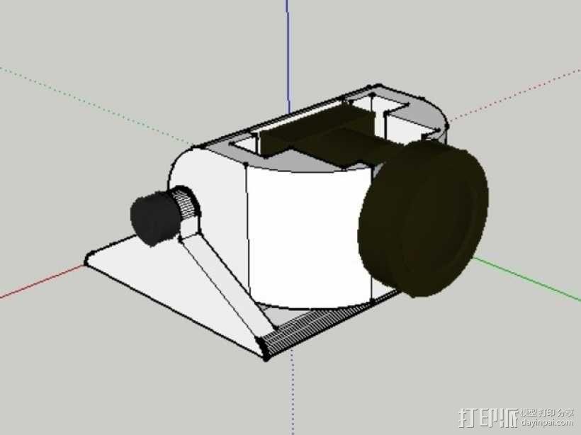 Mobius 相机广角透镜架 3D模型  图5