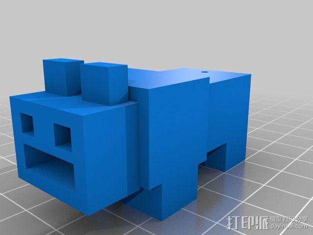 USB外壳 3D模型  图1