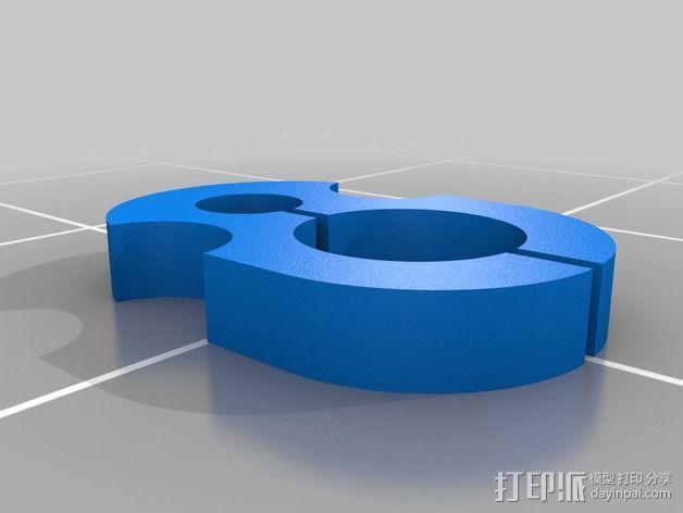 LG 蓝牙耳机夹 3D模型  图2