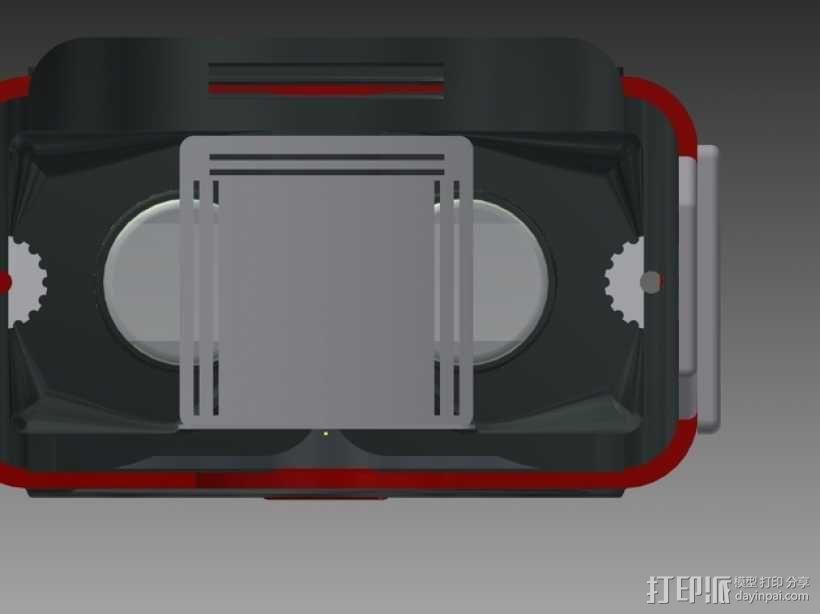 谷歌纸盒 虚拟现实眼镜 3D模型  图3