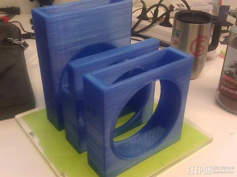 风扇罩 风扇前挡板  3D模型  图1