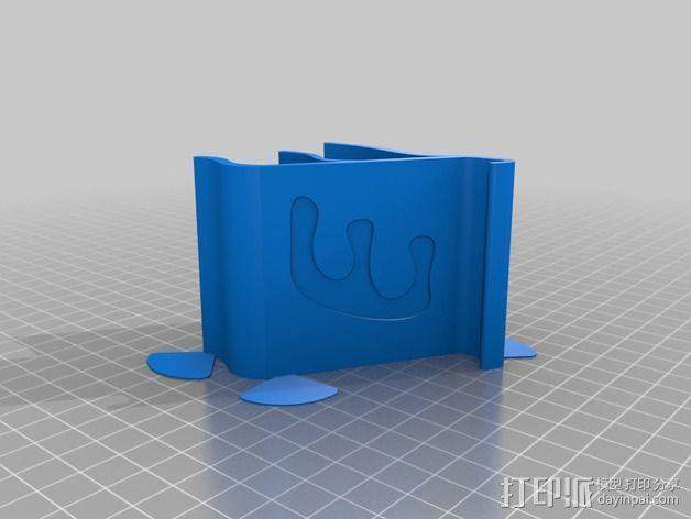 E字形手机座 3D模型  图2