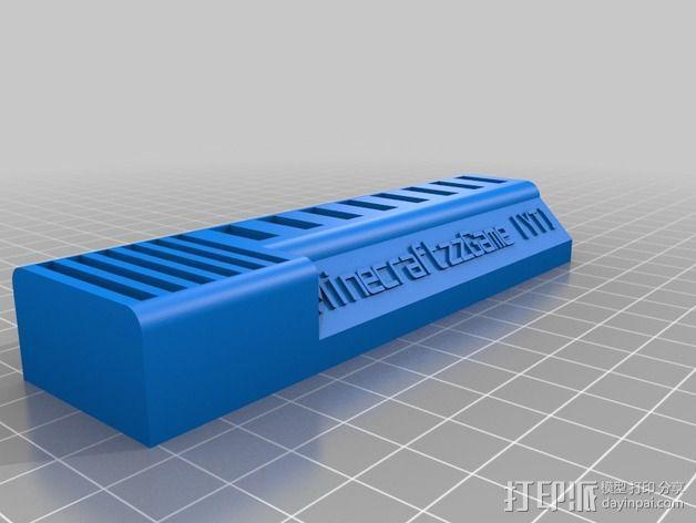USB/SD卡收纳盒 3D模型  图1