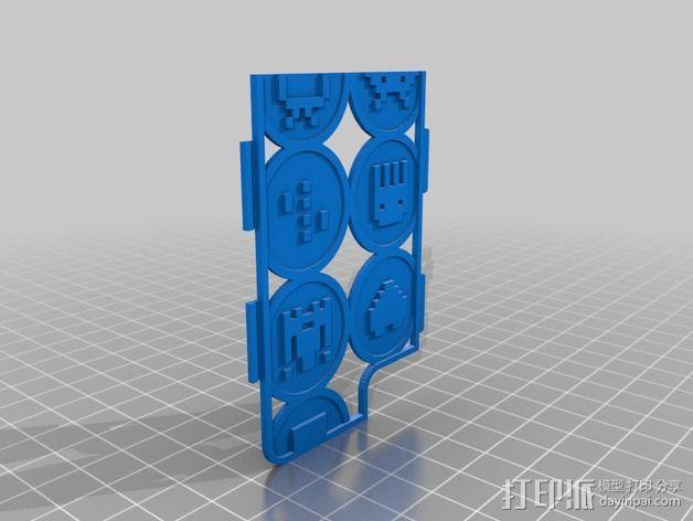 像素图形手机套 3D模型  图2