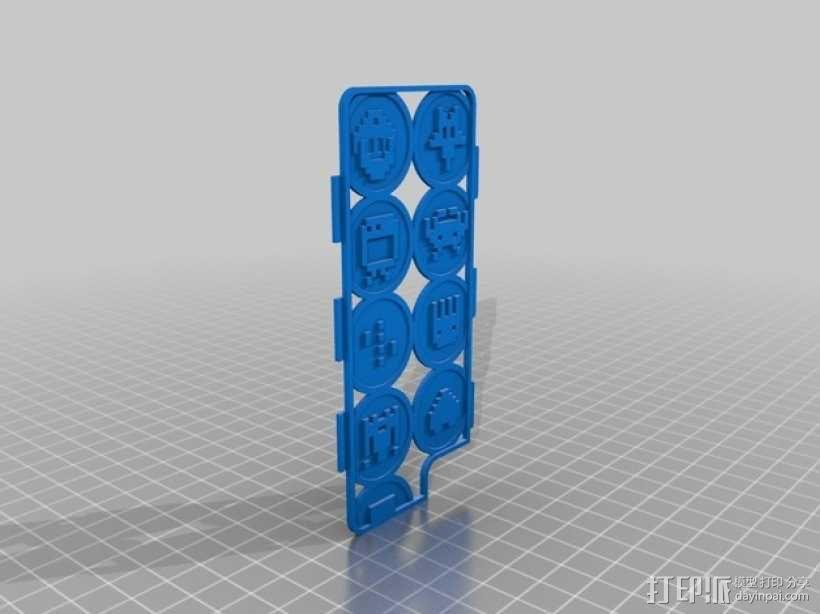 像素图形手机套 3D模型  图1