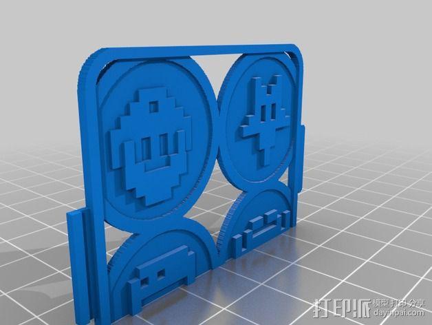 像素图形手机套 3D模型  图3