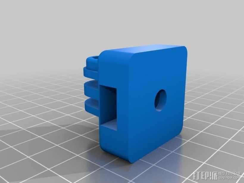 GoPro相机三角架连接器 3D模型  图1