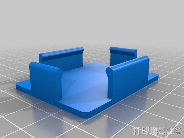 迷你面包板适配器 3D模型  图4