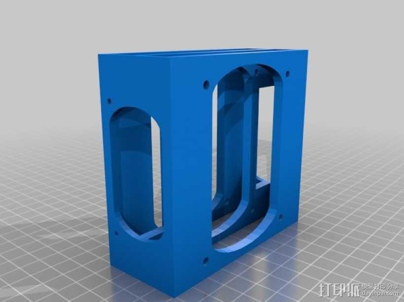 硬盘架 硬盘盒 3D模型  图1