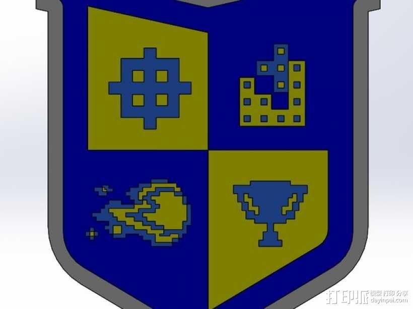 电子游戏徽章 3D模型  图3