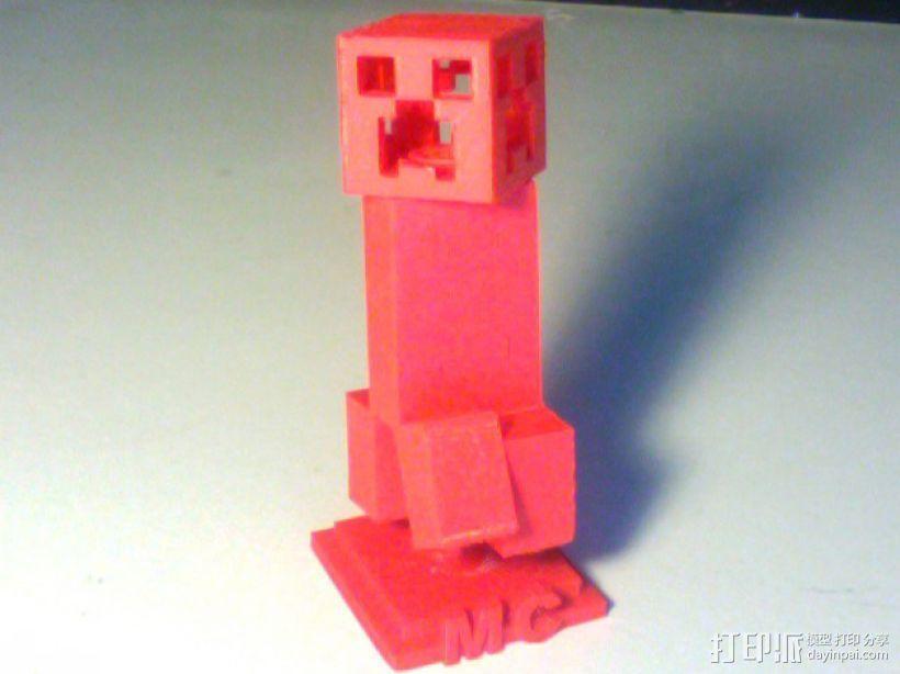 我的世界 爬行者 3D模型  图1