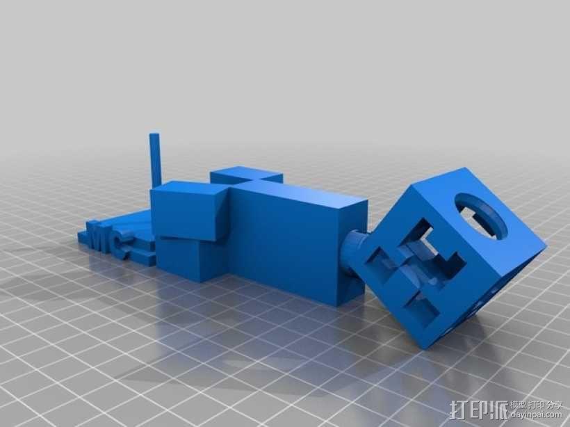 我的世界 爬行者 3D模型  图2