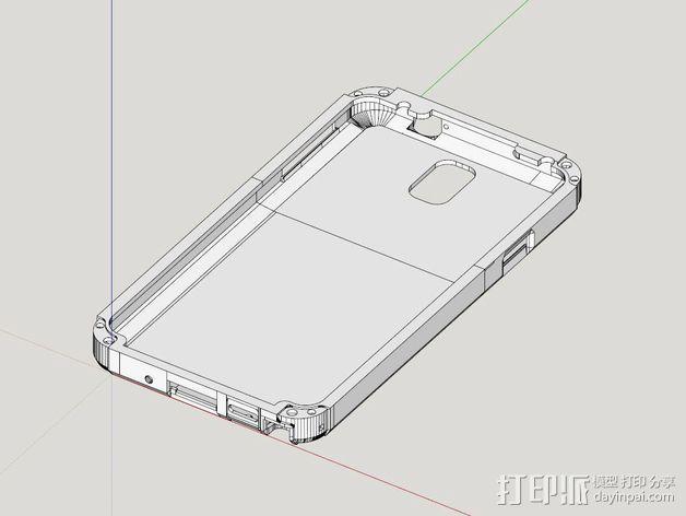 三星Galaxy Note 3手机保护套 3D模型  图2