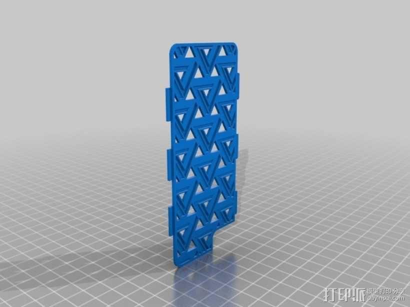 潘诺斯三角形手机外壳 3D模型  图1