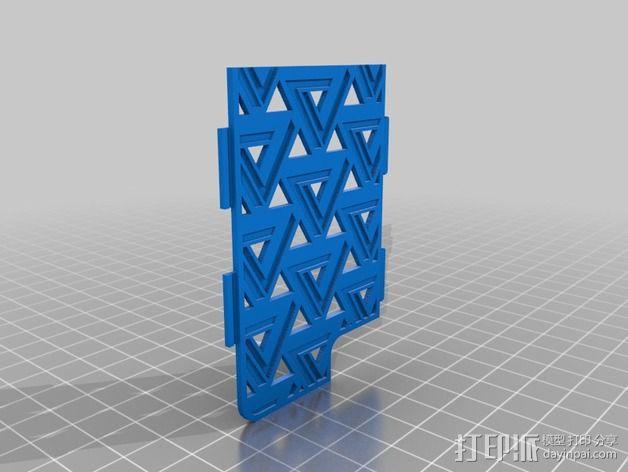 潘诺斯三角形手机外壳 3D模型  图2