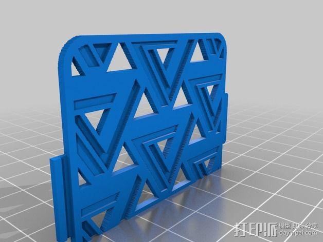 潘诺斯三角形手机外壳 3D模型  图3