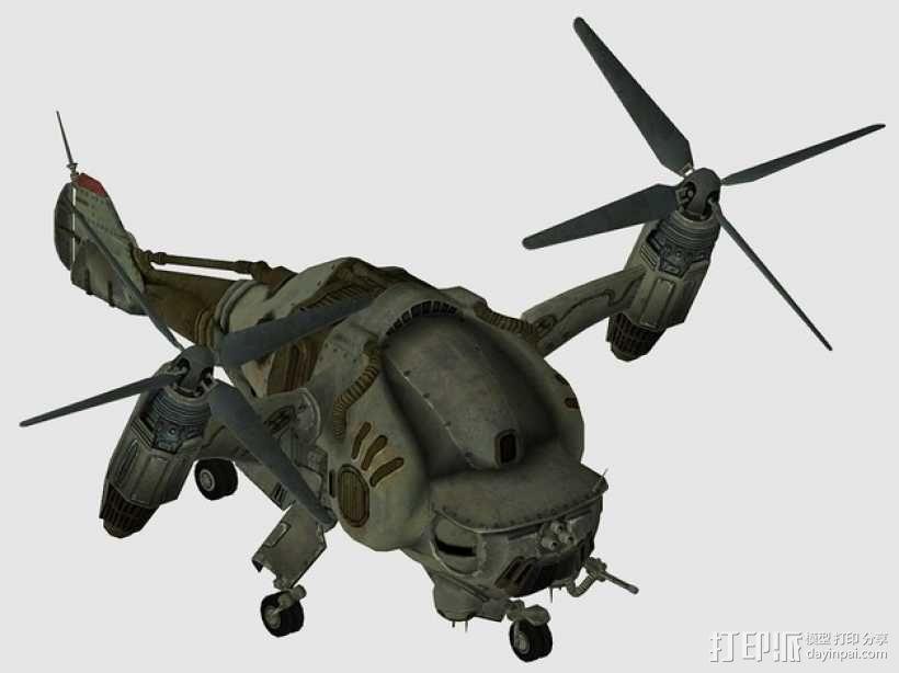 Verti Bird轰炸机 3D模型  图1