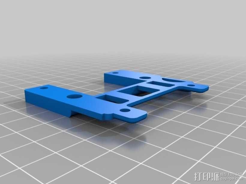gopro2/3相机固定器/稳定器 3D模型  图2
