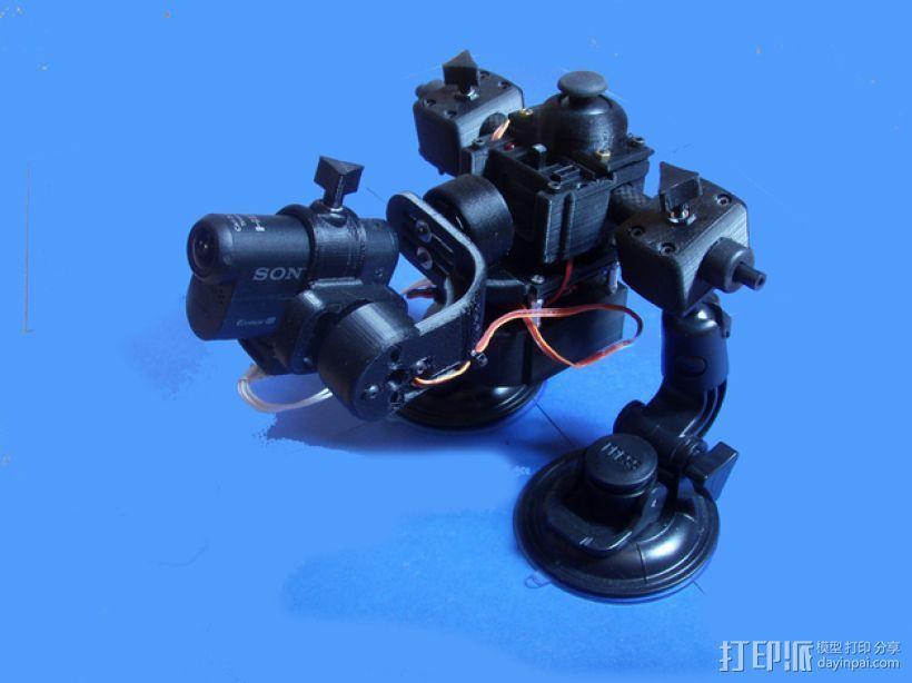 gopro2/3相机固定器/稳定器 3D模型  图1