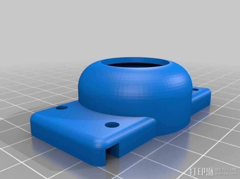 gopro2/3相机固定器/稳定器 3D模型  图3