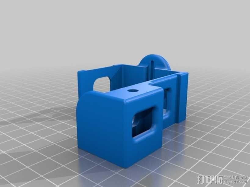 gopro2/3相机固定器/稳定器 3D模型  图7