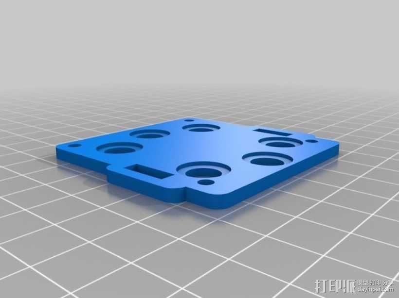 gopro2/3相机固定器/稳定器 3D模型  图9